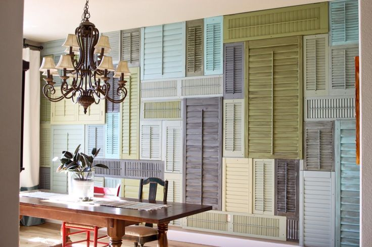 1000 images about alternative uses for shutters on pinterest for Alternatives to exterior shutters