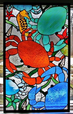 RESERVED FOR JILL Custom Made Stained Glass Window by SingularArt