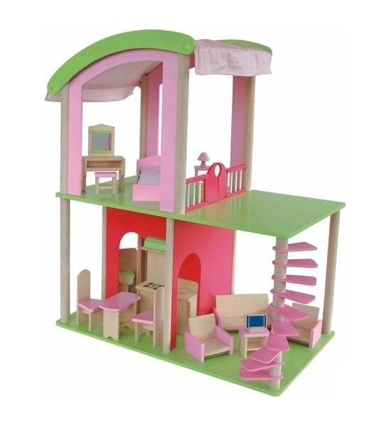 Craft Кукольный домик Флоренция с мебелью и куклами  Кукольный домик Флоренция - яркий, красочный, в современном итальянском стиле. Разнообразная мебель и большое пространство, наполненное светом, подскажет множество сценариев для игр! Домик станет любимой игрушкой вашего ребенка на долгие годы. В нем есть все, что необходимо для проживания кукольной семьи!  Характеристики: 2 этажа 5 комнат 16 предметов мебели 4 куклы  Размер домика (ШхГхВ): 70 х 40 х 85 см.  Кукольный домик – заветная мечта…