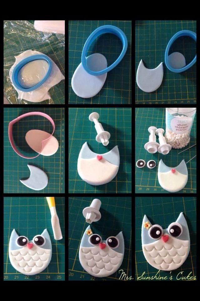 Easy fondant owl