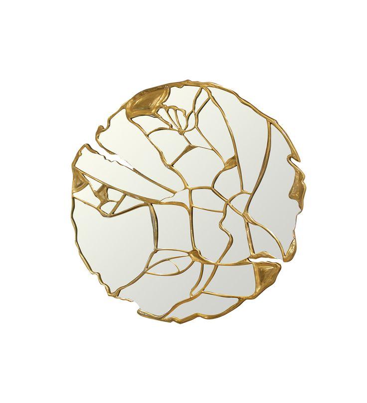 Glance Mirror - Brilliant Detail Mirror Made With Emotion And Passion By Boca do Lobo | http://www.bocadolobo.com #bocadolobo #readytoship #exclusivedesign #interiordesign #designmirrors