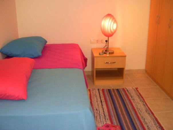 Second bedroom In this second bedroom you will find 2 comfortable single beds that pulled together becomes a double bed. Good to host couples or 2 children slepping separately. The room aslo has a desk and a wardrobe.