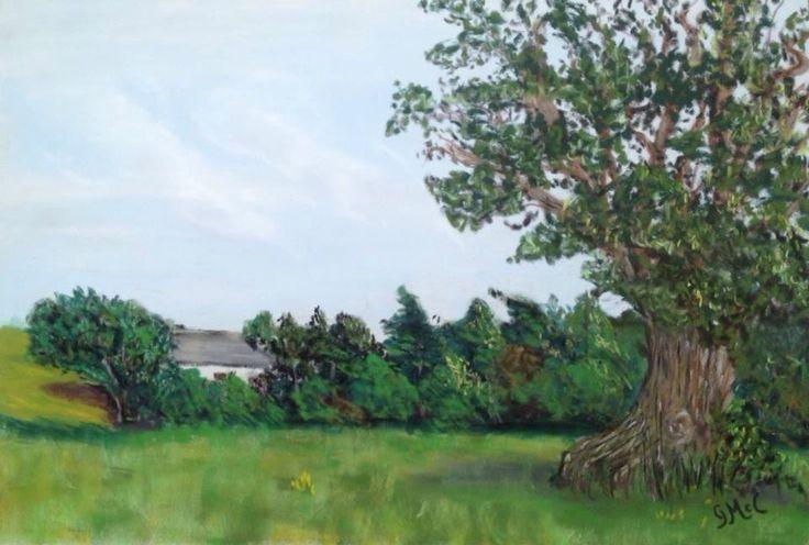 Soft Pastels, painted en Plein air near Clonmel, co Tipperary.