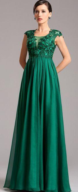 eDressit A Line Empire Waist Emerald Maternity Dress