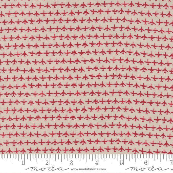 Airplane Fabric by the Yard, Flight Fabric, Janet Clare, Moda Fabrics, Flight Aeroplanes Cream Red, Airplane Quilt Fabric, 1410 14 by TheHangarFabricShop on Etsy https://www.etsy.com/listing/475657701/airplane-fabric-by-the-yard-flight