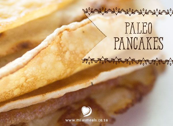 """Mila's Meals Paleo Pancakes Recipe.  Another solution to the eternal question of """"What's for breakfast?""""  From the Mila's Meals Online Advent Calendar. New recipes everyday leading up to Christmas. All gluten-free, sugar-free and dairy-free."""