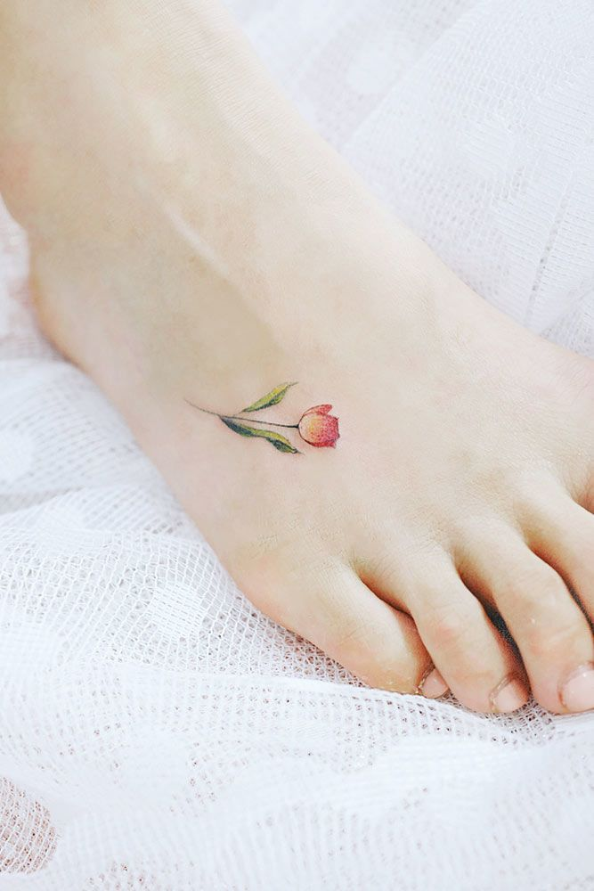 51 Gorgeous Looking Watercolor Tattoo Ideas Foot Tattoos For