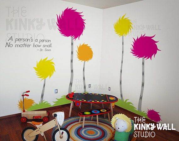Enfants Wall Stickers mural autocollant  arbres Wall par KinkyWall, $118.00