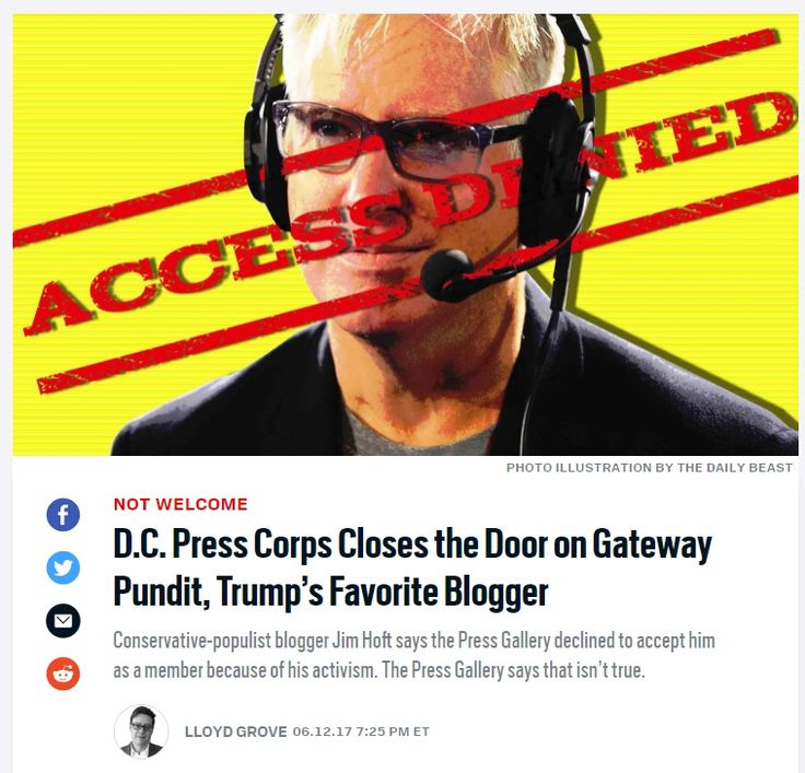 Senate Press Gallery Blocks Another Prominent Pro-Trump Website from Access– And didn't have the decency to notify Gateway Pundit before ...