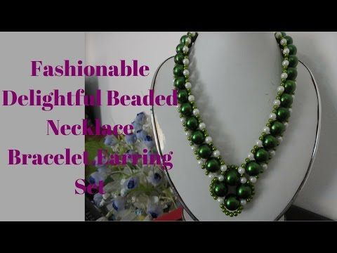 Homemade Necklace -- For Beginners Project -- ( Craft Buzz ) - YouTube