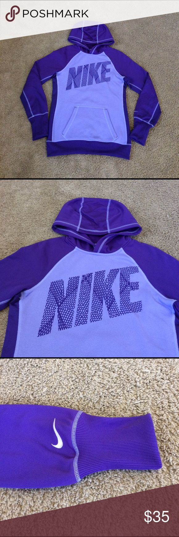 Women's Nike Therma-Fit Sweater Hoodie Purple Sm Women's Nike Therma-Fit Sweater Hoodie Purple Sm in Excellent conditions. Nike Sweaters