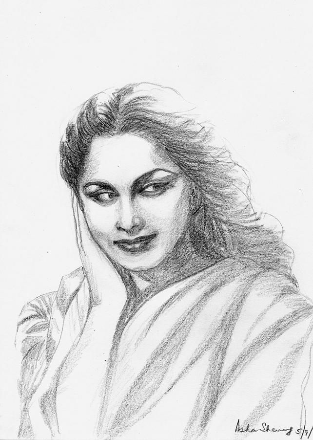 Waheeda Rehman Bollywood Actress By Asha Sudhaker Shenoy Source- http://pixels.com/index.html