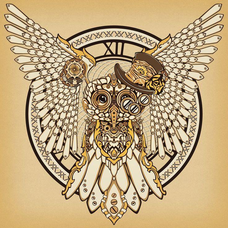 Steampunk Owl by KenshinPony on DeviantArt | Birds - Owls ...