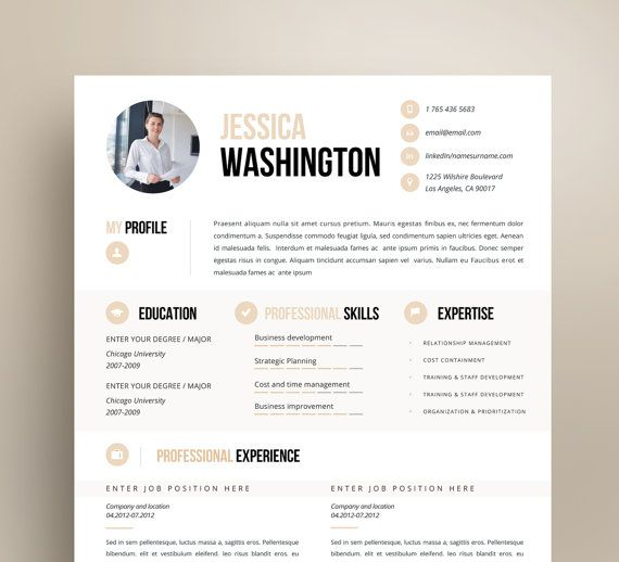 60 best Creative and professional Resume Templates images on - resume on microsoft word