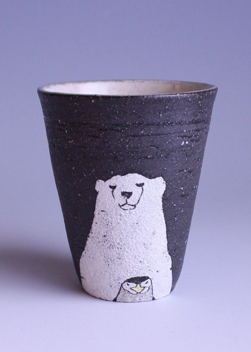 Animal tumbler - polar bear and penguin by muratakaori