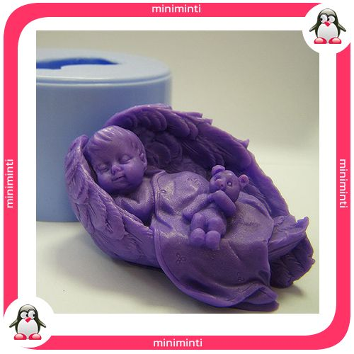 baby angel wing beer soap mold