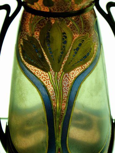 Art Nouveau Glass Vase