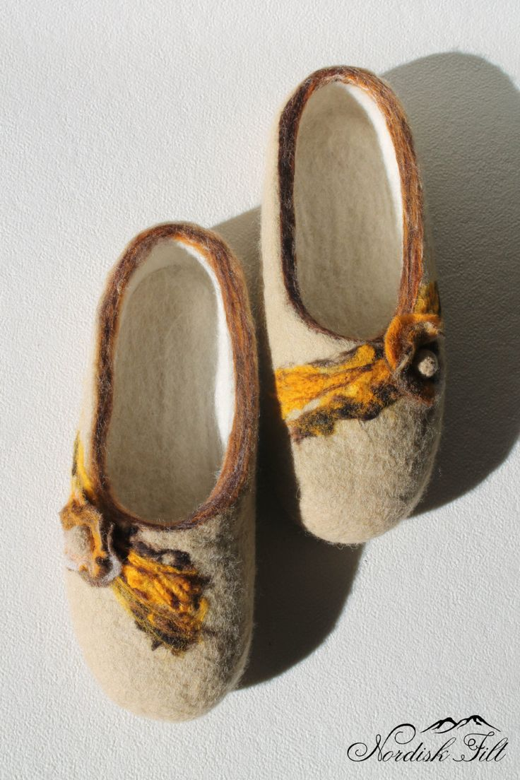 Felted wool slippers-Home shoes-made to order by NordiskFilt on Etsy