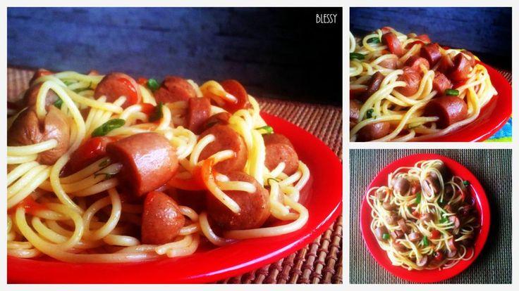 Threaded Spaghetti Hot Dog