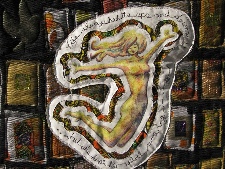 Keep Your Spirits Up Art Quilt by Sarah Peck www.sarahsart.co.nz