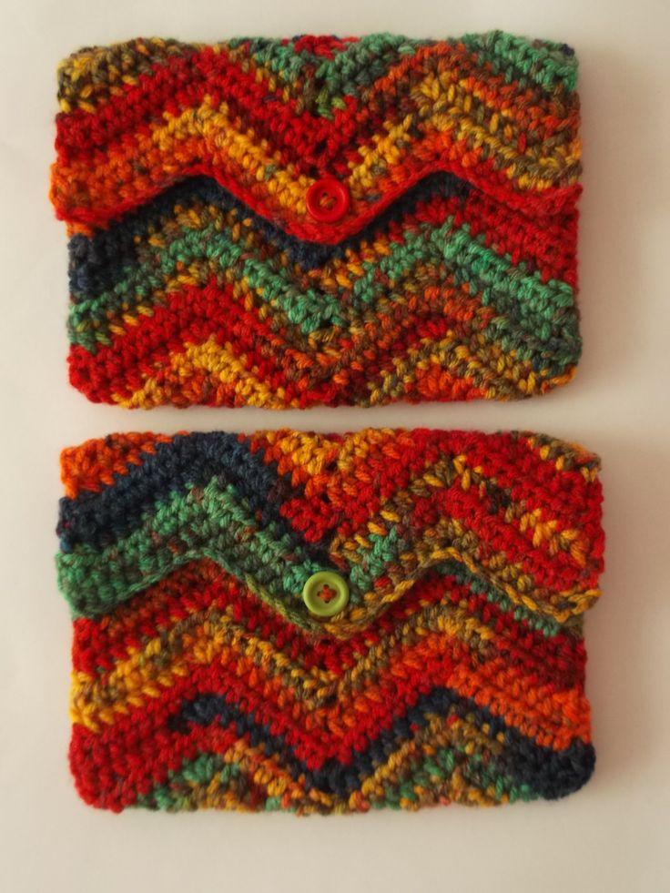 Crochet Wallet - Crochet Purse -Handmade crocheted wallet and phone case - Shopping wallet by Handmadebyadina on Etsy