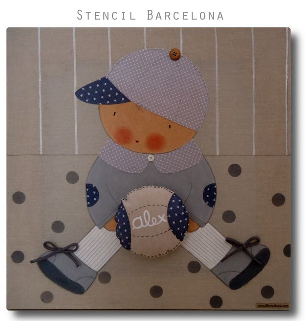 #Cuadrosinfantiles personalizados de Stencil Barcelona