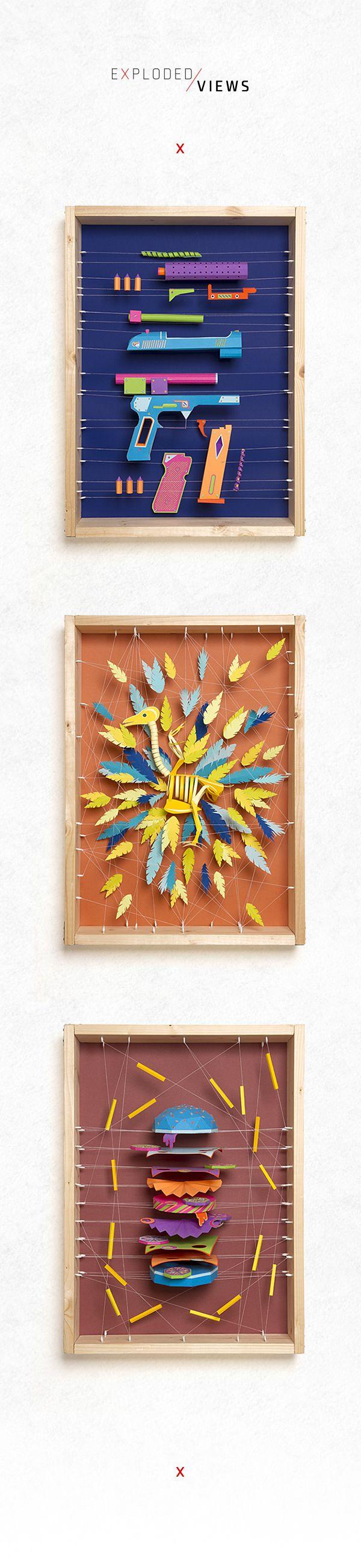 Creative Paper Sculptures Works by Zim & Zou | Abduzeedo Design Inspiration