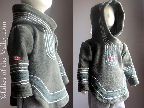 Child Coat. Baby Clothes. 6 years old. 7 years old. Boy Girl Coat. Baby Hoodie. Inuit inspired. Amauti inspired. CANADA.