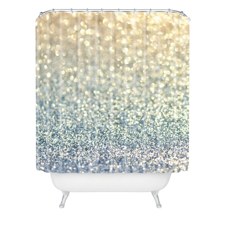 Lisa Argyropoulos Snowfall Shower Curtain | DENY Designs Home Accessories shower curtains