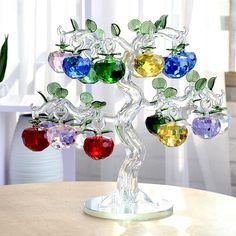40mm Ano Novo Árvore Chirstmas Pendurado Ornamentos Maçã Corte De Vidro Cristal decoração 2016 Cortinas de Navidad decorações de natal Em Casa em   de   no AliExpress.com | Alibaba Group