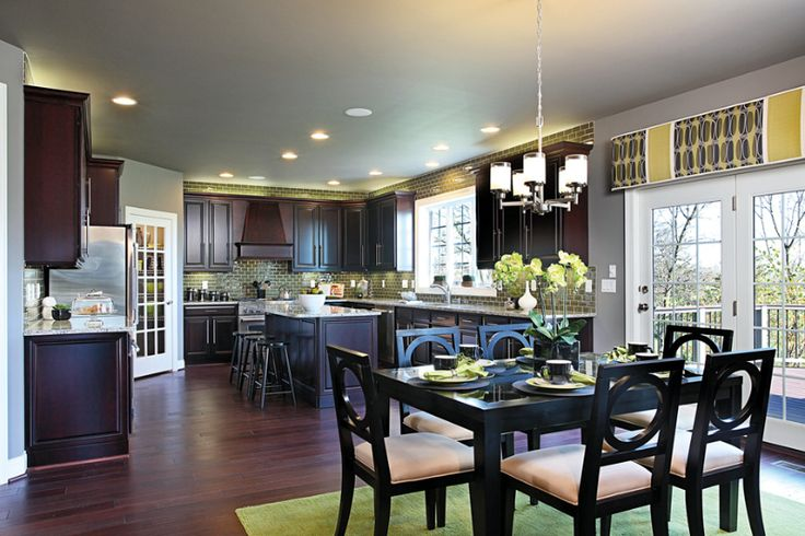 In this gorgeous kitchen you can see the backsplash ...