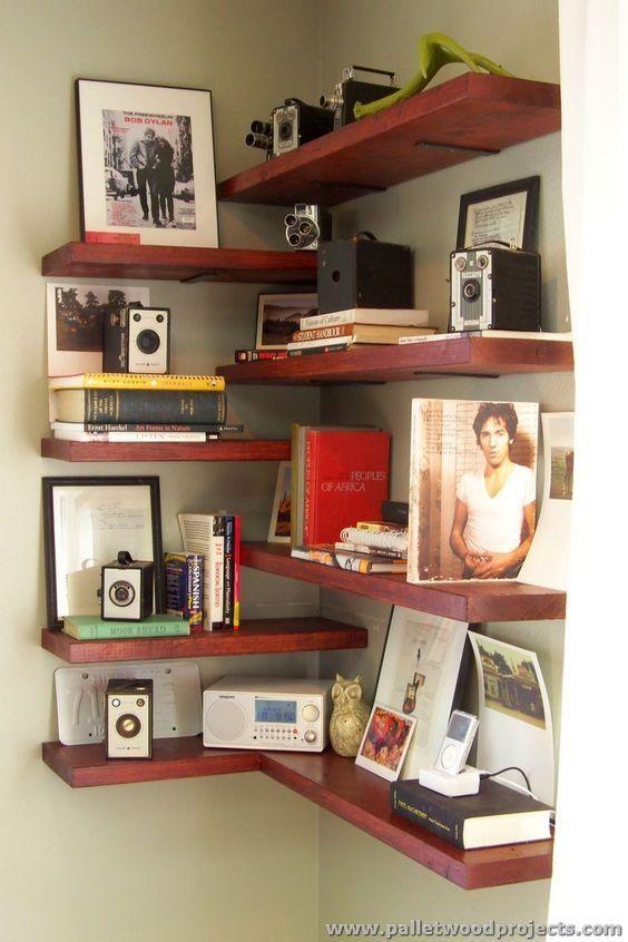 угловая полка фото для книг