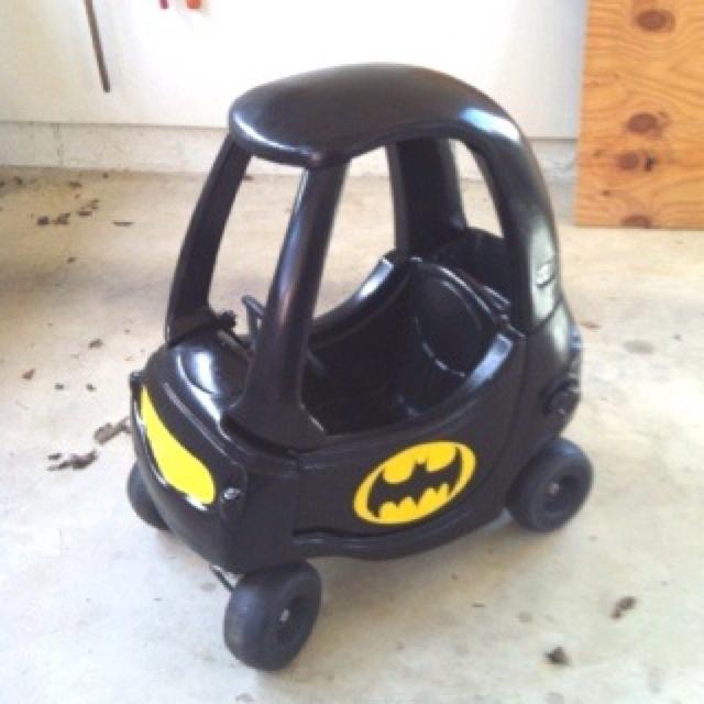 Batman car.: Craft, Idea, Cozy Coupe, Kids, Batmobile, Boy, Kiddo