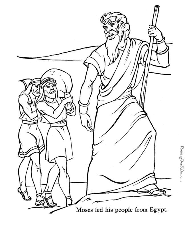 moses death coloring pages - photo#18
