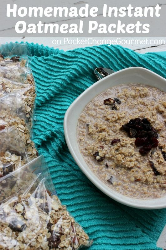 Homemade Instant Oatmeal Packets :: Spend about 10 minutes on the weekend, saves time and money during the week. Recipe on PocketChangeGourmet.com #BacktoSchool #Quick #Breakfast