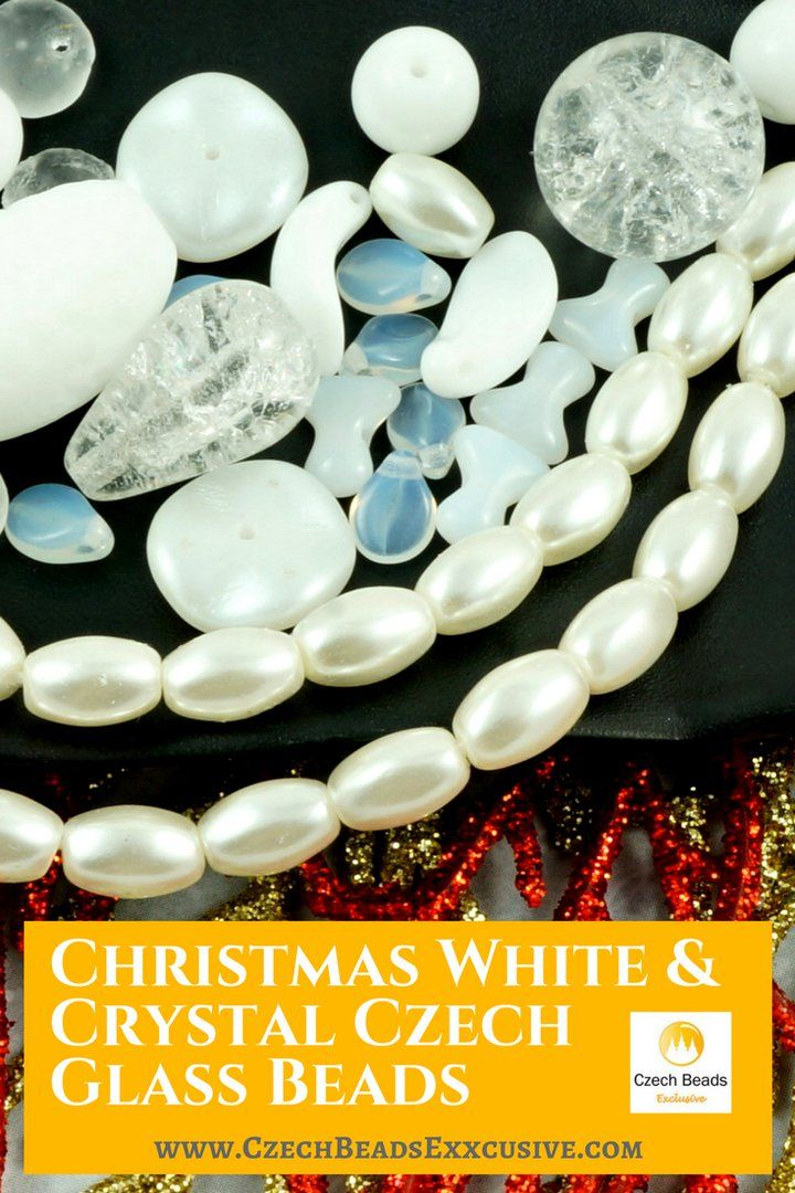 ?? Czech Glass Christmas White And Crystal Czech Glass Beads  Different Shapes and Sizes! - Buy now with discount! www.CzechBeadsExclusive.com/+white www.CzechBeadsExclusive.com/+crystal  Hurry up - sold out very fast! SAVE them! #czechbeadsexclusive #czechbeads