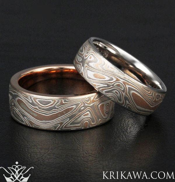 diamond mokume yiofbgg gane metal rings classy binnion james and arts wedding from jewelry