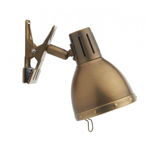 Lampe à pince Osaka Laiton antique