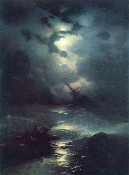 Storm in the North Sea, 1865  Aivazovsky,  Ivan Constantinovich  Painting Reproductions
