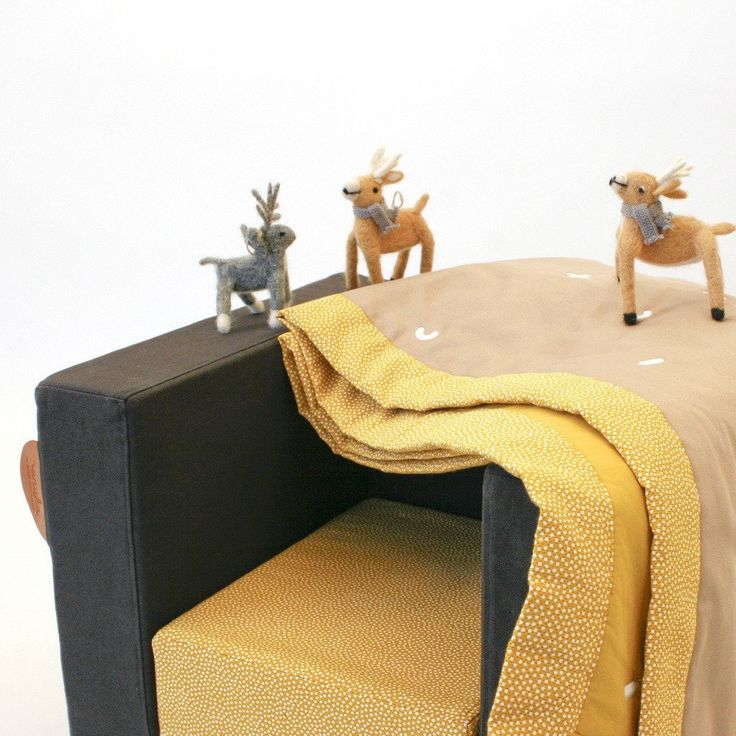 CUBE CHAIR <br> YELLOW / BLACK JUNGLE