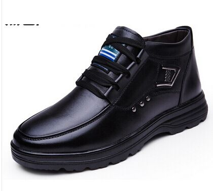 Winter Boots Men Fashion Men Shoes Leather Winter Genuine Leather Business Man Shoes 2014 Casual Cotton-Padded Shoes Men Boots