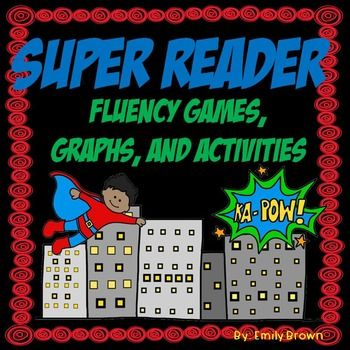 Superhero Reading Fluency Games and Activities