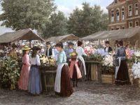 027 Хенне де Кортэ. Цветочный рынок