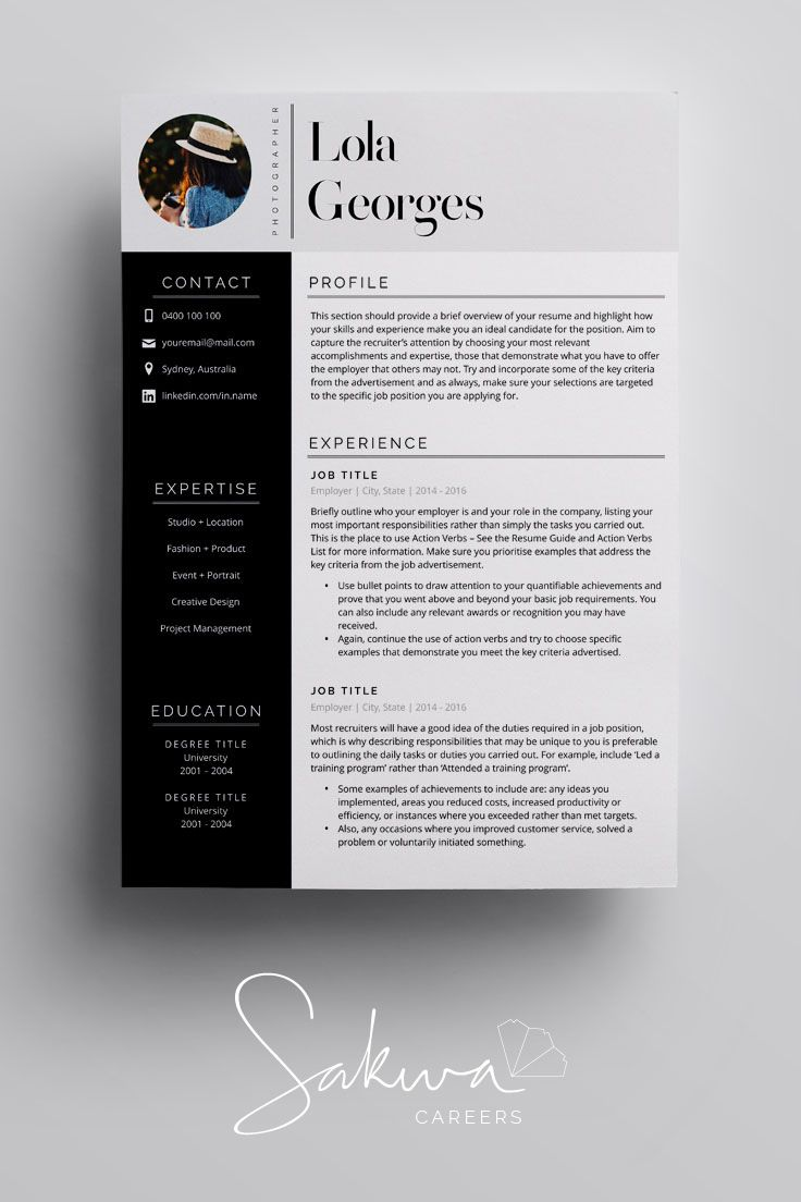 Resume Template in A4 US Letter