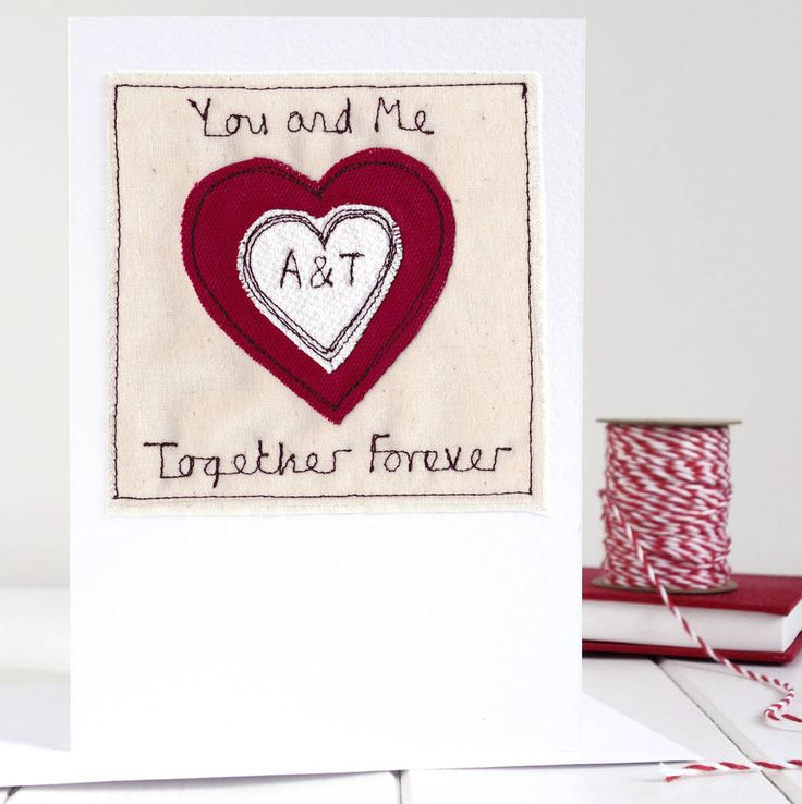 personalised initials valentines card by milly and pip. £8.55
