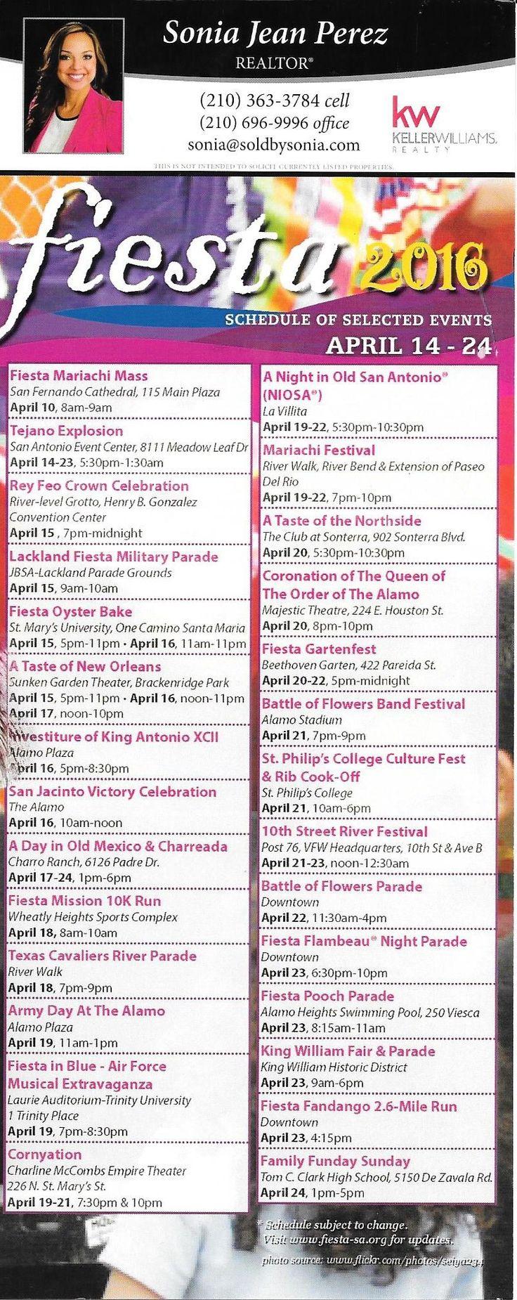 Fiesta san antonio 2016 calendar of events let s fiesta san antonio