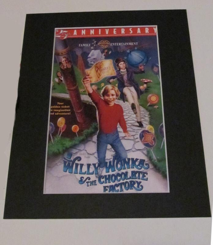 WILLY WONKA & the Chocolate Factory Movie Custom Matted Authentic Cover Art 8x10 by RescuedHollywood on Etsy https://www.etsy.com/listing/195423275/willy-wonka-the-chocolate-factory-movie