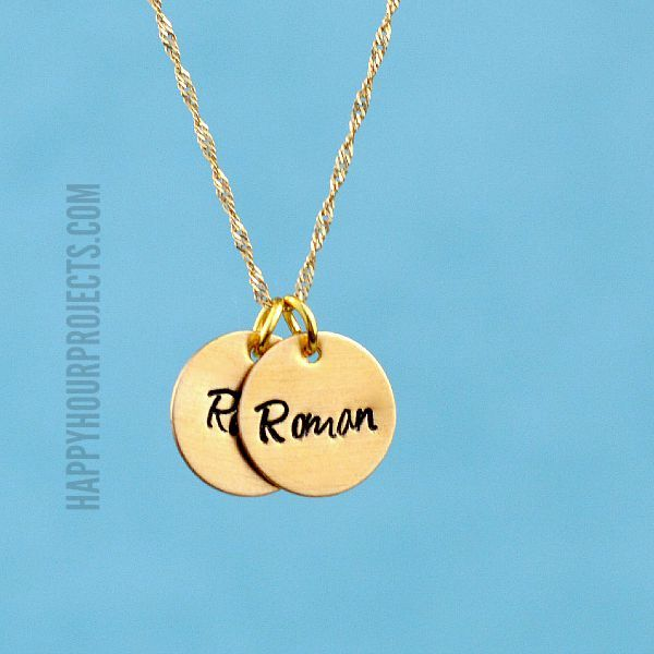 Learn how to make hand stamped jewelry with this easy for How do you make hand stamped jewelry