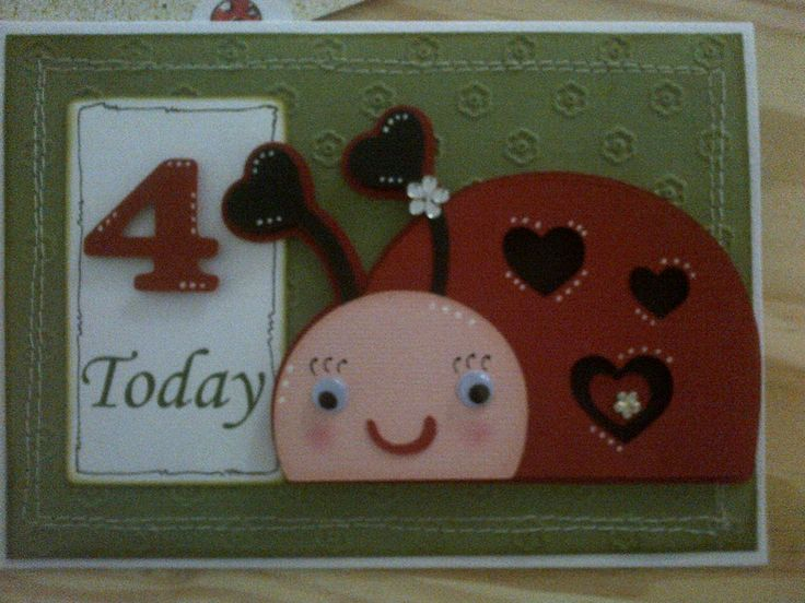 Ladybird card for my niece's birthday!