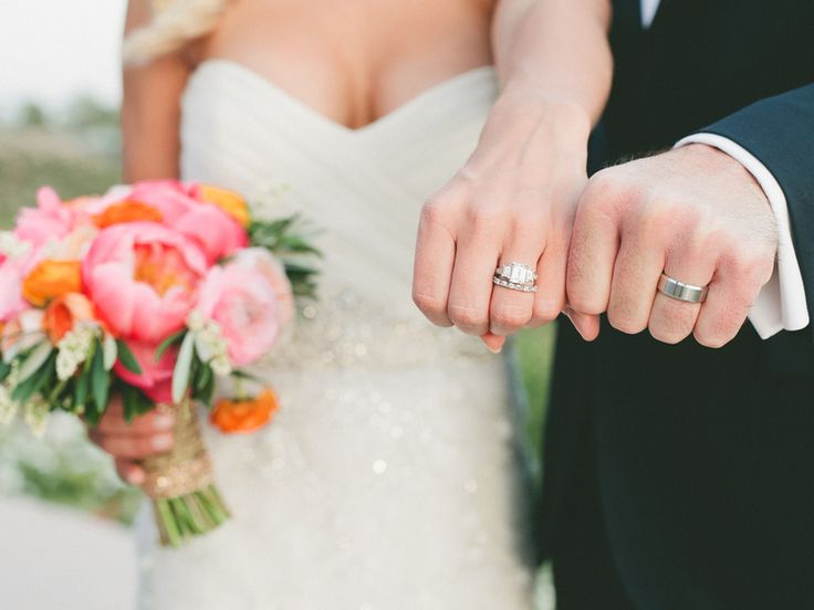 Wedding ring etiquette - I like this ring but in gold with a solid wedding band.
